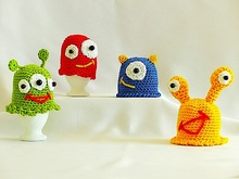 "Egg Cozy ""Funny Breakfast Monsters"" - Crochet Pattern"