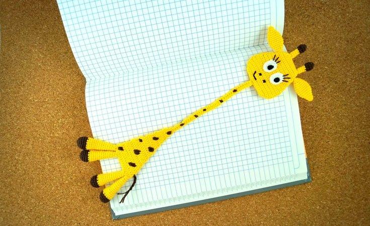 Giraffe häkeln / Lesezeichen / Highlight-Deko