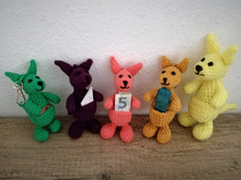 Crochet pattern: Colorful Kangaroos