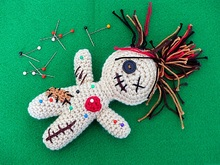 """Celeste, the friendly Voodoo-Doll"" Crochet Pattern"