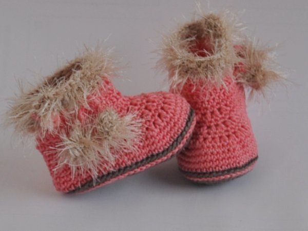 Babystiefel Booties Eskimo Häkelanleitung