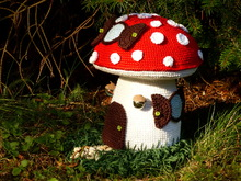 Crochet Pattern Door Stop Mushroom Fairy House