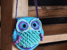 "Owl bag ""Blue Dreams"""