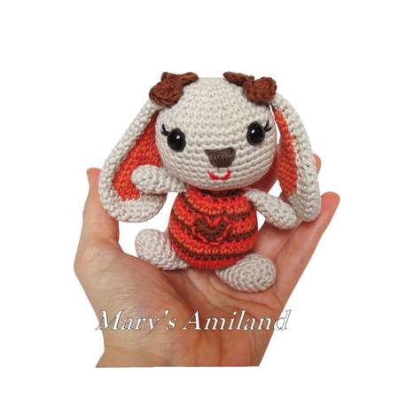 Girl and Boy Bunnies The Amis - Amigurumi Crochet Pattern - Digital Download