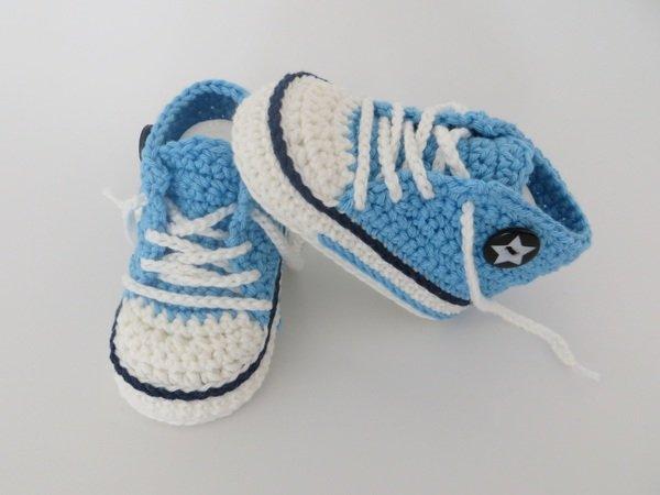 Babyschuhe Häkeln Trendige Babyturnschuhe