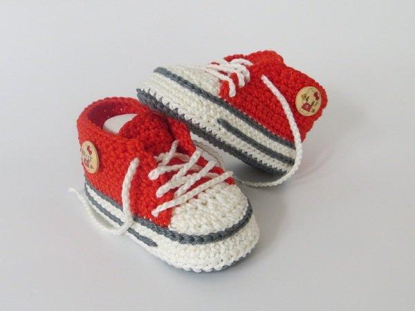 uk availability babd2 00cf1 Häkelanleitung für trendige Babyschuhe
