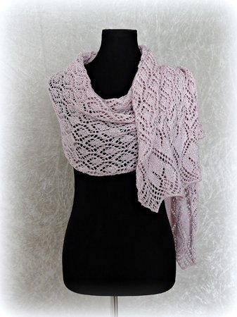 Knitting pattern shawl, scarf, wrap Ithilien