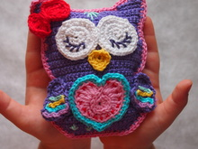 Scops Owl in Love crochet pattern