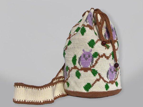 Mochila Mit Eulen Häkeln Tapestry Häkeln