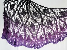 "crochet pattern triangle scarf ""diamonds"""