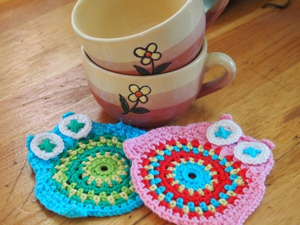Owl Coaster crochet pattern