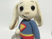 Super Hero Bunny Amigurumi PDF Pattern - Beginner
