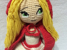 Crochet Pattern Little Red Riding Hood Girl Amigurumi PDF