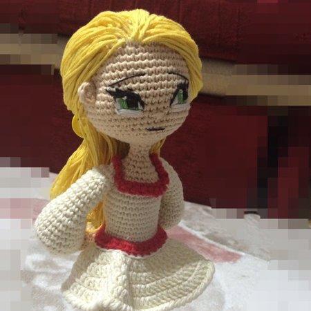 Little lady doll crochet pattern - Qaisera Sandhu (mit Bildern ... | 450x450