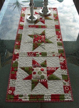 n hanleitung quilt patchwork tischdecke sterne weihnachten tischl ufer. Black Bedroom Furniture Sets. Home Design Ideas