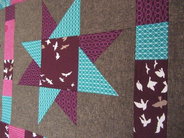 Nahanleitung Quilt Patchwork Tischdecke Sterne Weihnachten Tischlaufer