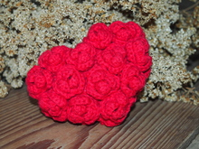 Red Rose Heart - crochet pattern