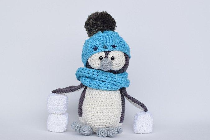 Pinguin Häkeln Mütze Eiswürfel Deko