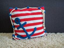 Crochet Pattern Anchor Pillow