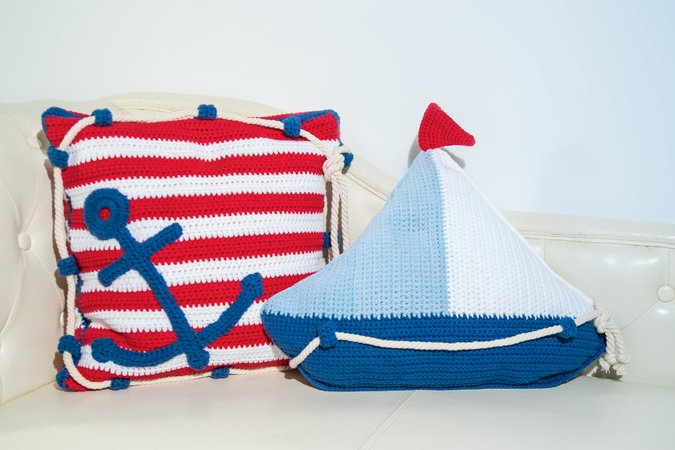 Pattern sail boat pillow and anchor pillow crochet pattern sail boat pillow and anchor pillow dt1010fo