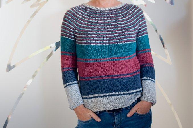 1ce024b04f Josie - top down circular yoke sweater