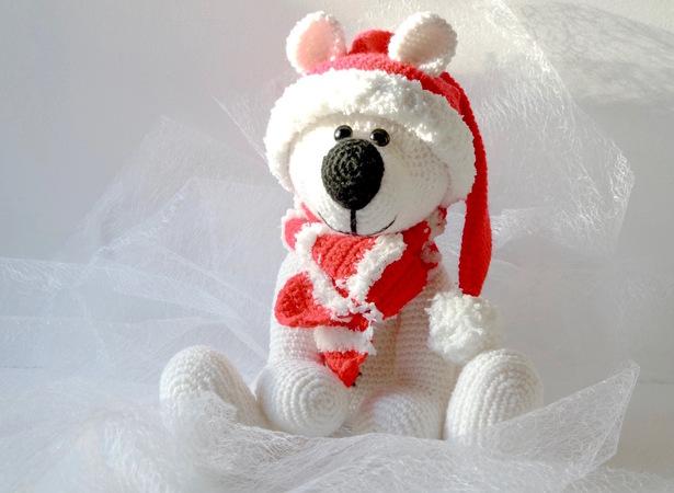 Bär Häkeln Kuschelig Und Weihnachtlich
