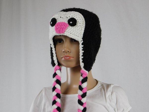 Häkelanleitung** Kinder Pinguin Mütze