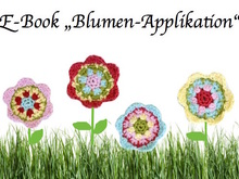 E-Book: Blumen-Applikation (ca.6 cm groß)