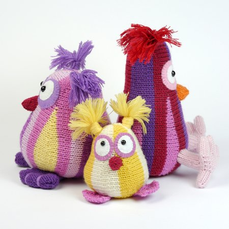 Owl Family Shuhuu / knitting pattern