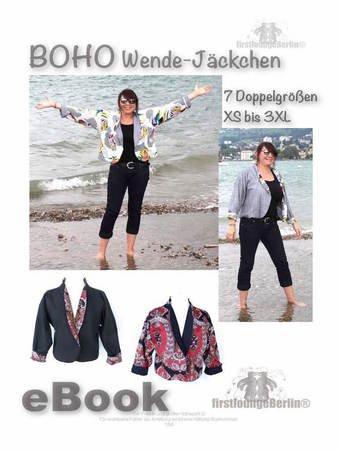 Boho *** E-Book Wende Jacke Blazer in 7 Größen XS-3XL Schnittmuster ...