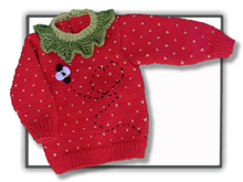 Strawberry Sweater Jumper (3 mths to 4 yrs)