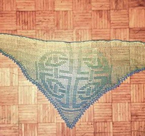 Motivtuch Häkeln Motiv Keltischer Knoten