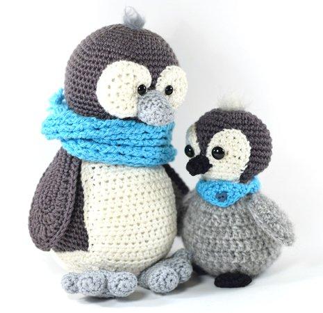 Haekelicious 2 Anleitungs Paket Babypinguin Mit Großem Pinguin