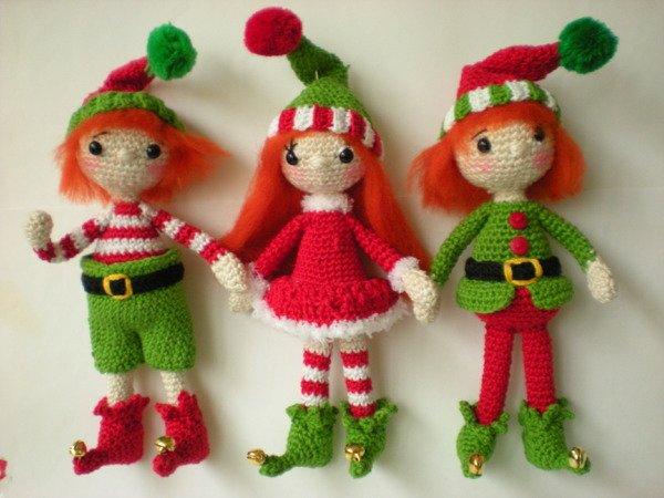 Weihnachtsdeko Häkeln Wichtel Elfen Häkeln