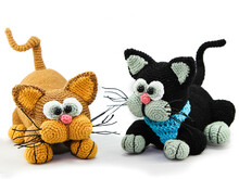 fluffy cats - crochet pattern