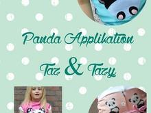 Panda - Pärchen Taz & Tazy ~ Applikation