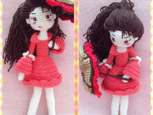 Amigurumi Girl With Umbrella - PDF Pattern