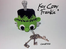 "Crochet instruction E-Book key cozy ""Frankie"" #0002 Sabses Sweeties"