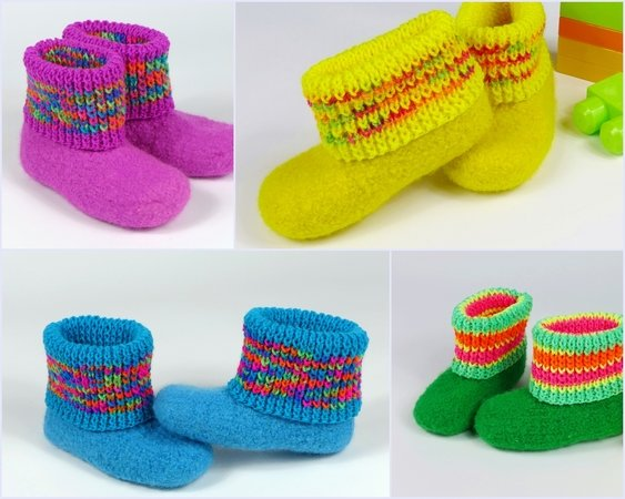 Felt boots / slippers with turtleneck - all sizes