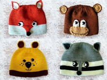 Knitting & Crochet Tutorial Animal Caps