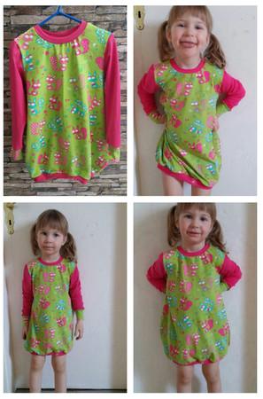 Ballonkleid/Kinderkleid in Größe 74-146 - Schnittmuster & Nähanleitung