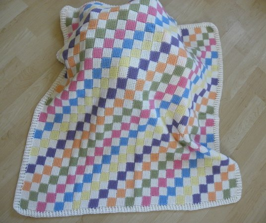 Baby Blanket Entrelac Crochet