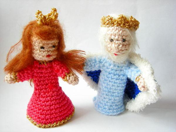 Fingerpuppen Kasperletheater Prinzessin Und König
