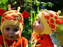 Giraffe Earflap Hat Knitting Pattern