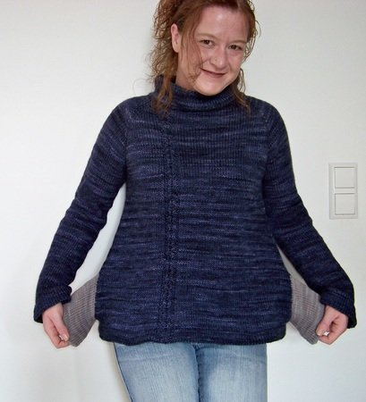 "Knitting pattern Pullover ""Feels like home"""