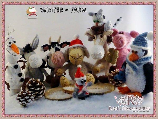 Die Winter Farm Knuddelige Tiere Häkeln Für Weihnachten Winter