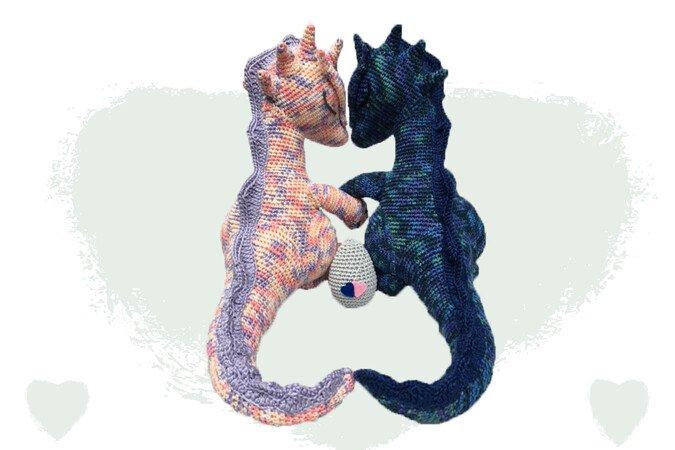Drachen Liebe Häkelanleitung Amigurumi Häkeln Pdf Deutsch Englisch