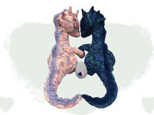 Dragon Love Pattern Amigurumi PDF Crochet