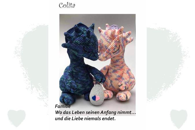 Cuddle Me Dragon crochet pattern - Amigurumi Today | 450x675