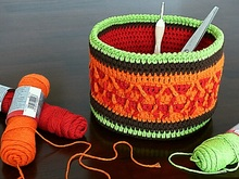 "Decorative Basket ""Autumn Colors"" Crochet Pattern"